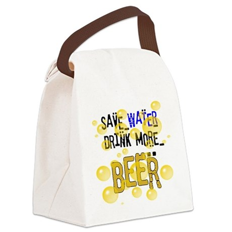 drinkbeer.png Canvas Lunch Bag