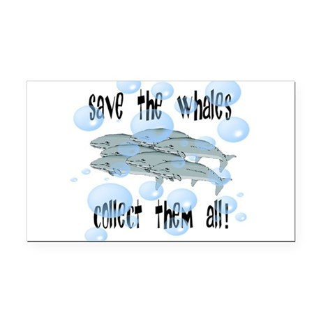 whales2.png Rectangle Car Magnet