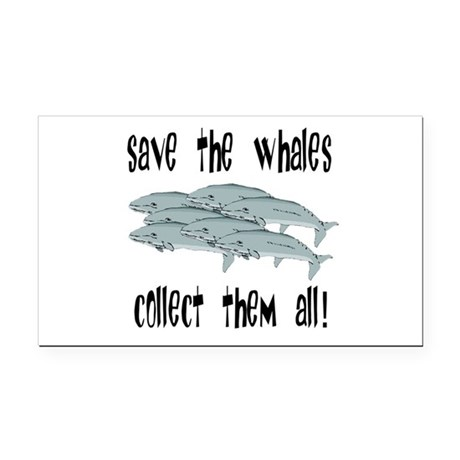 whales1.png Rectangle Car Magnet