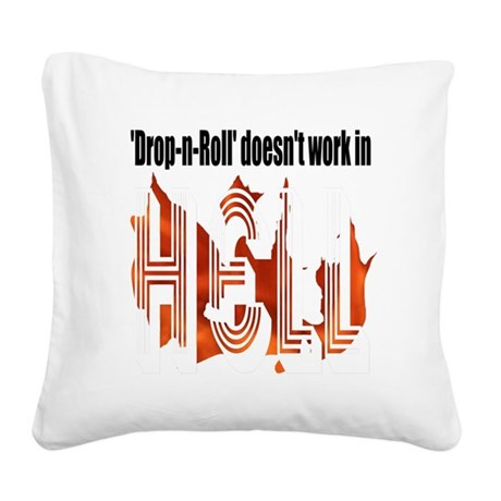 flames1abc.png Square Canvas Pillow