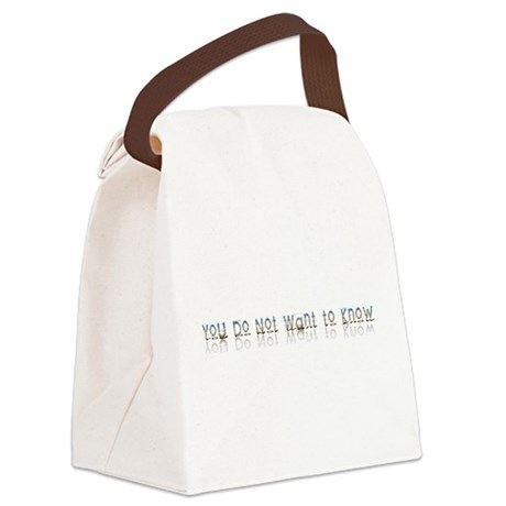 notwantknow.png Canvas Lunch Bag
