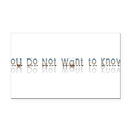 notwantknow.png Rectangle Car Magnet