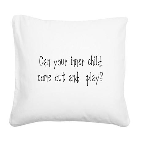 Inner Child Square Canvas Pillow