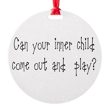 Inner Child Round Ornament