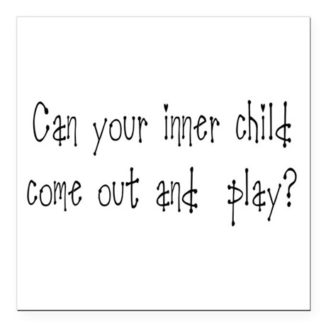 "Inner Child Square Car Magnet 3"" x 3"""