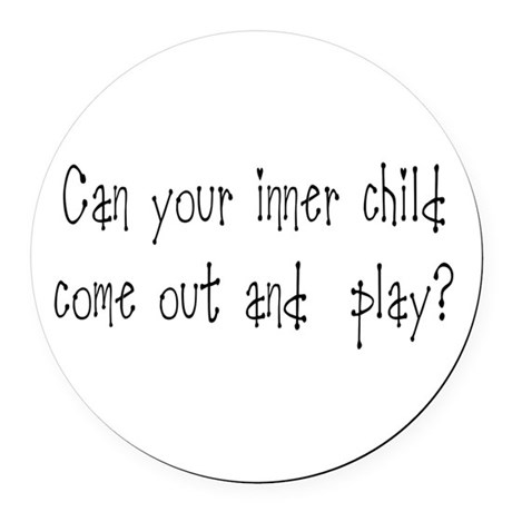 Inner Child Round Car Magnet
