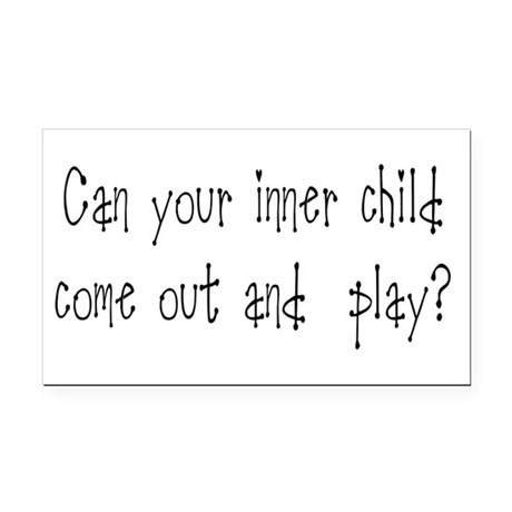 Inner Child Rectangle Car Magnet