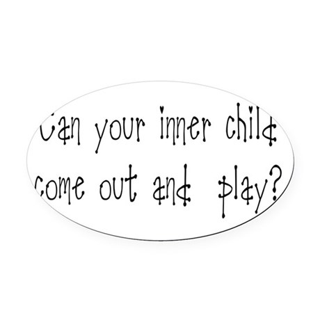 Inner Child Oval Car Magnet