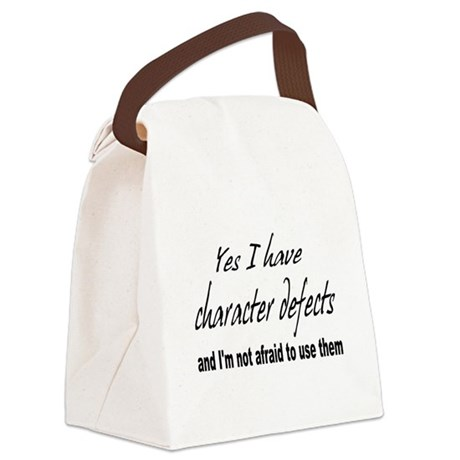 character defects Canvas Lunch Bag