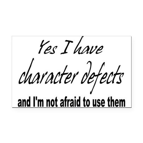 character defects Rectangle Car Magnet