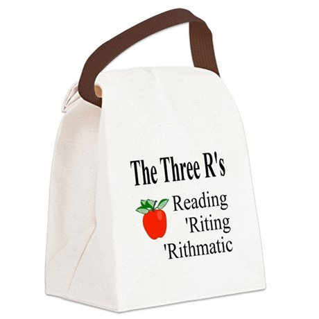 The Three Rs Canvas Lunch Bag