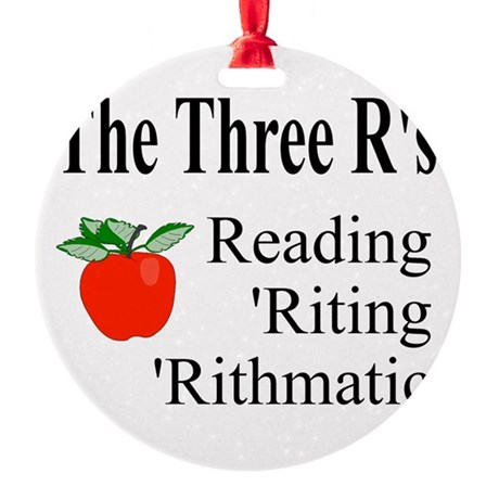 The Three Rs Round Ornament