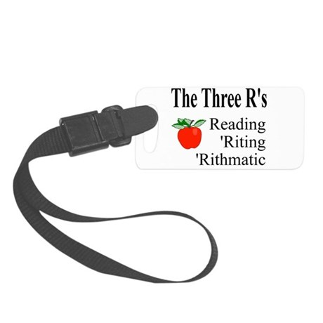 The Three Rs Small Luggage Tag