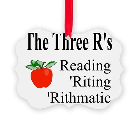 The Three Rs Picture Ornament