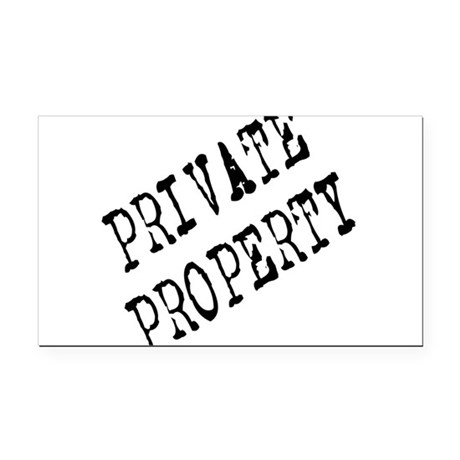 Private Property Rectangle Car Magnet