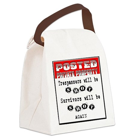 private property Canvas Lunch Bag
