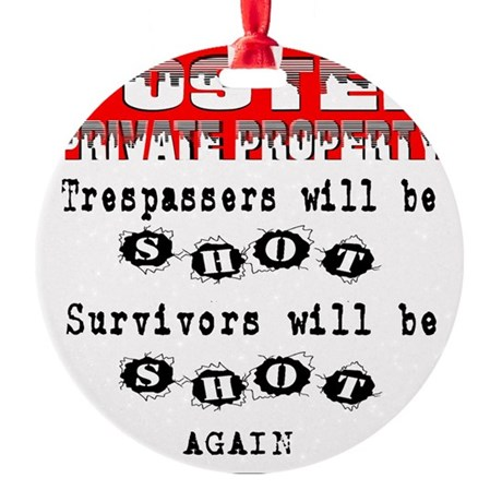 private property Round Ornament