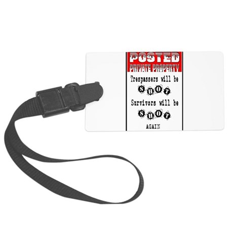 private property Large Luggage Tag