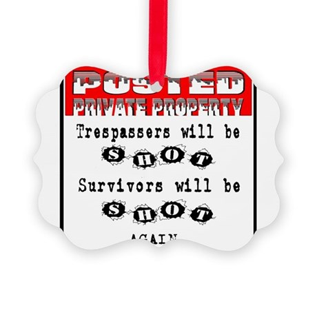 private property Picture Ornament