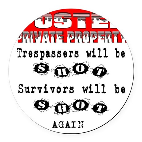 private property Round Car Magnet