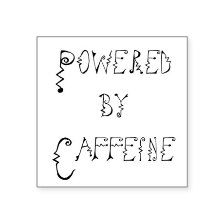 "Caffeine Square Sticker 3"" x 3"""