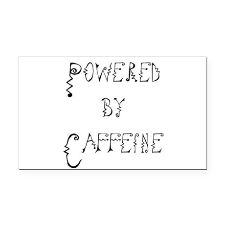 Caffeine Rectangle Car Magnet