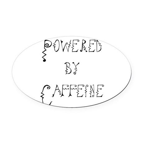 Caffeine Oval Car Magnet