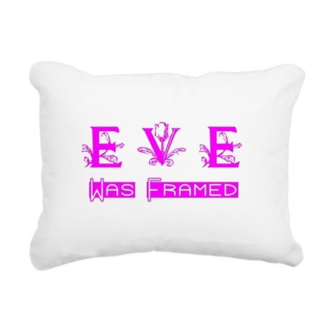 Eve was Framed Rectangular Canvas Pillow