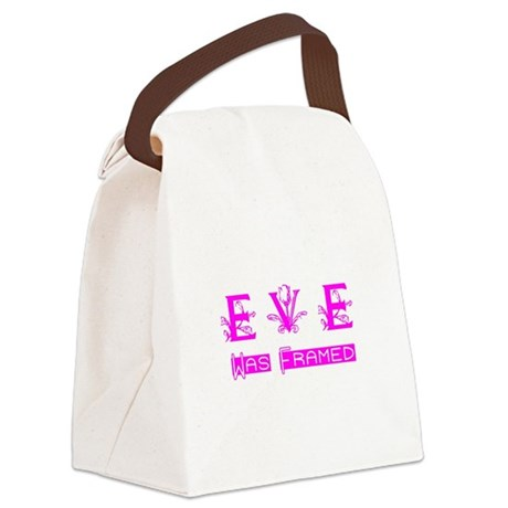Eve was Framed Canvas Lunch Bag