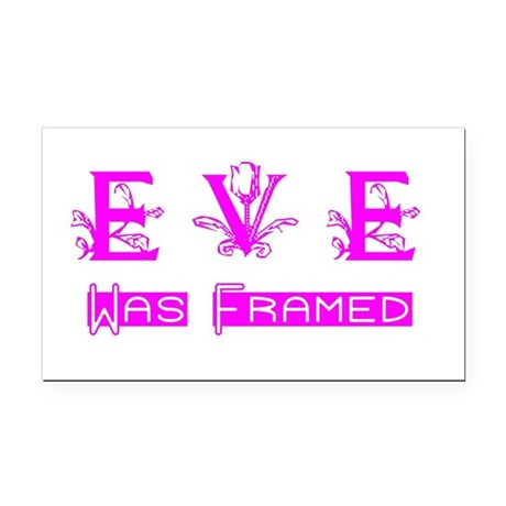 Eve was Framed Rectangle Car Magnet