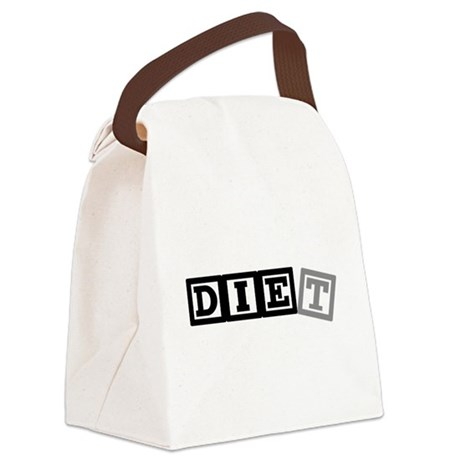 diet11.png Canvas Lunch Bag