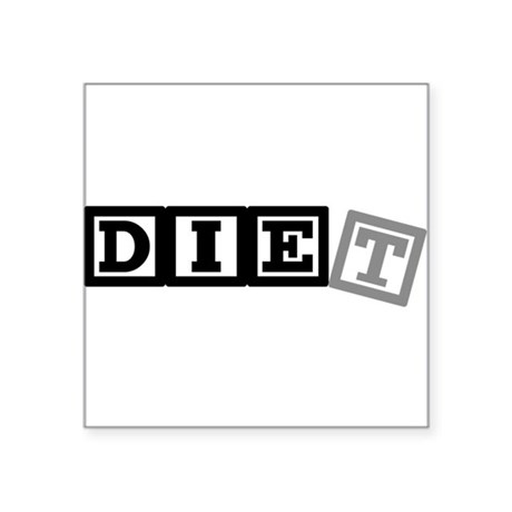 diet11.png Square Sticker 3&quot; x 3&quot;