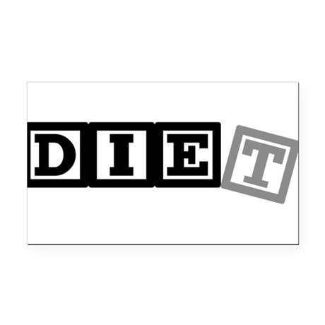 diet11.png Rectangle Car Magnet