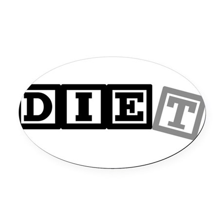 diet11.png Oval Car Magnet