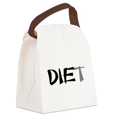 diet9.png Canvas Lunch Bag