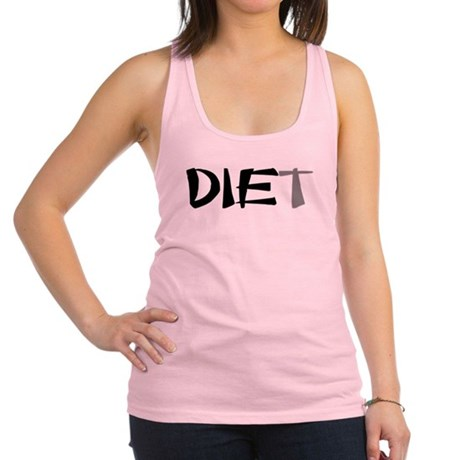 diet9.png Racerback Tank Top