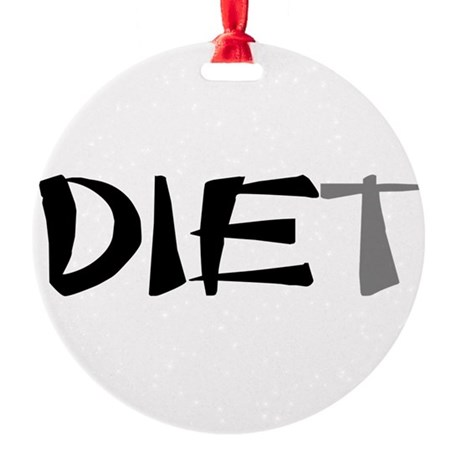 diet9.png Round Ornament