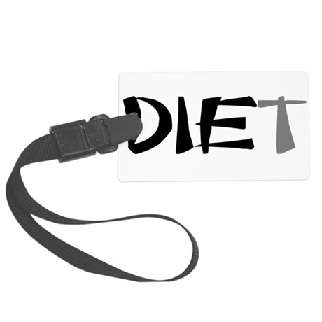 diet9.png Large Luggage Tag