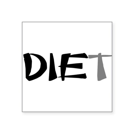 "diet9.png Square Sticker 3"" x 3"""
