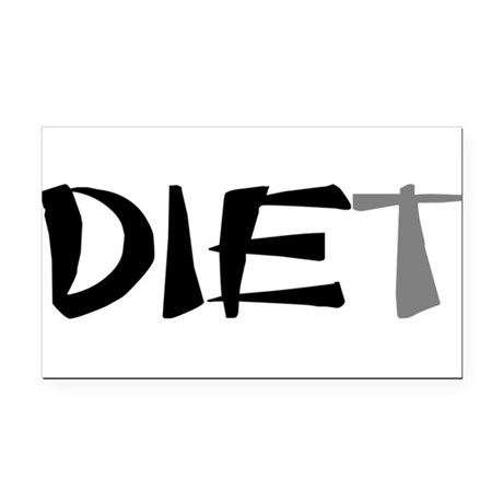 diet9.png Rectangle Car Magnet