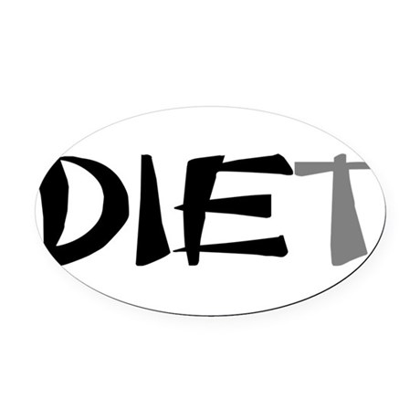 diet9.png Oval Car Magnet