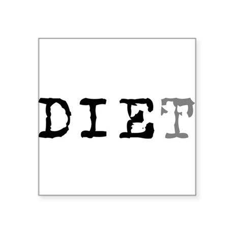 "diet7.png Square Sticker 3"" x 3"""