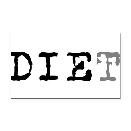 diet7.png Rectangle Car Magnet