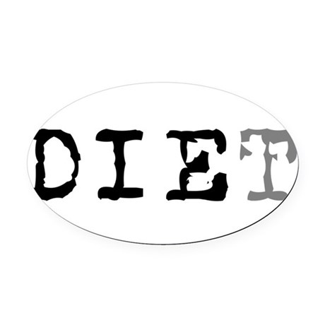 diet7.png Oval Car Magnet