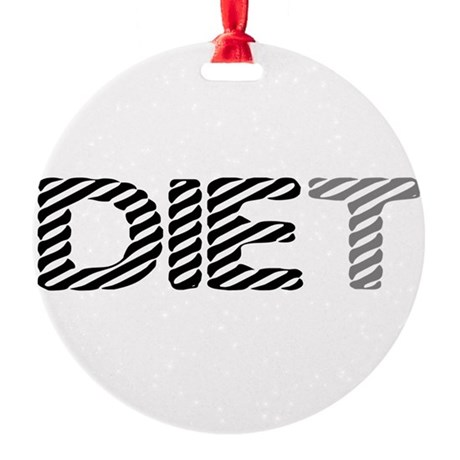 diet5.png Round Ornament
