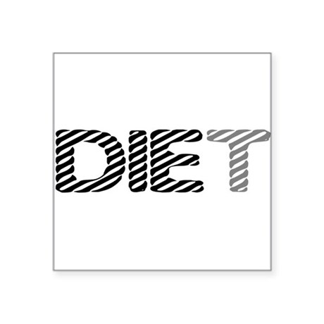 "diet5.png Square Sticker 3"" x 3"""