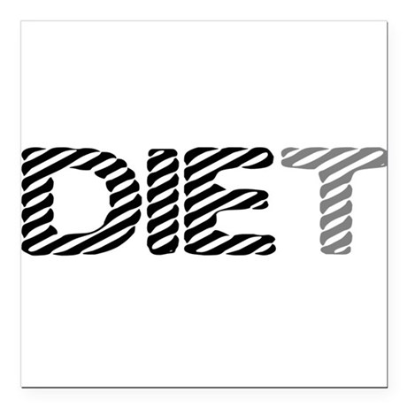 diet5.png Square Car Magnet 3&quot; x 3&quot;