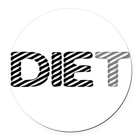 diet5.png Round Car Magnet