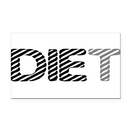 diet5.png Rectangle Car Magnet