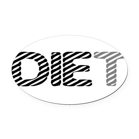 diet5.png Oval Car Magnet